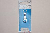 Zipper hanger silver color 4 cm