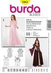 Burda 2463. Princess dress, fairy dress.