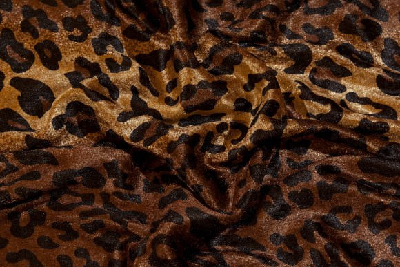 Crushed velvet with lepard pattern