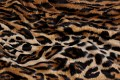 Leopard fake fur in brown-black.