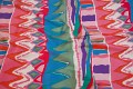 Red-pink-blue-green cotton-sateen, thick quality