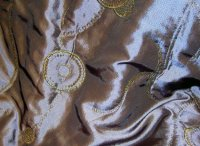 Taffeta with gold embroidery