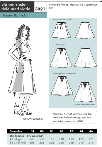 Wrap-around skirts with some with in them