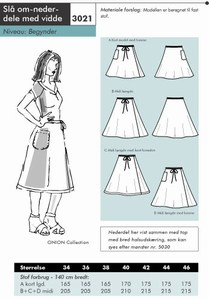 Onion pattern: Wrap-around skirts with some with in them