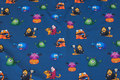 Dark dove-blue cotton-jersey with halloween-monsters