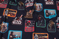 Black, firm cotton with beautiful starwars-motifs