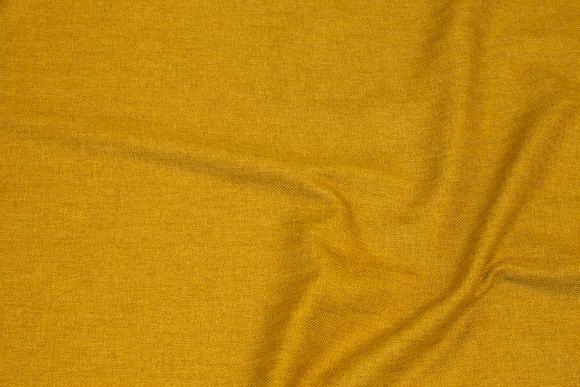 Discrete herringbone-weave polyester in brass-yellow