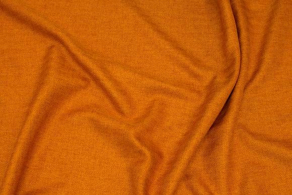 Discrete herringbone-weave polyester in orange