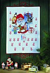 Permin 34-6203. Christmas gift calendar - Santa Claus making presents.