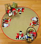 Christmas tree skirts with dancing Santas. 75,67