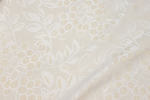 Off-white and creme-colored jacquard-table-cloth-fabric in big width