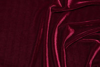 Eggplant-colored silky-velvet with stretch