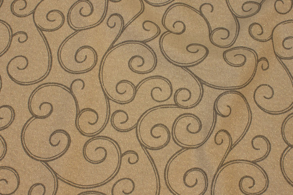 Sand-colored linen-look decoration fabric with glitter