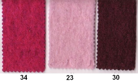 Wool felt in good quality in pink, light red, bordeaux