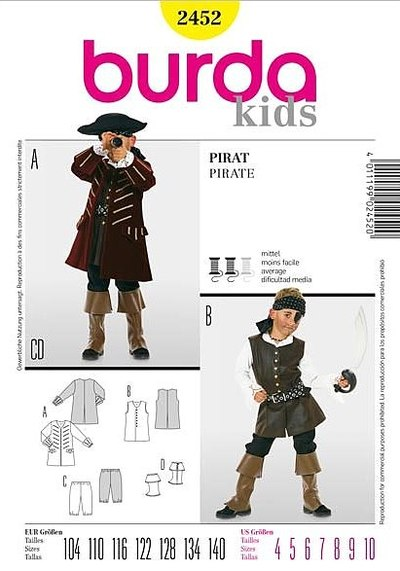Pirate jacket and vest