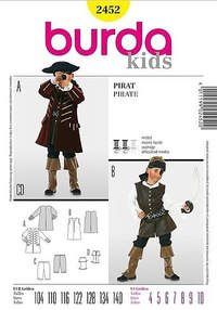 Pirate jacket and vest. Burda 2452.