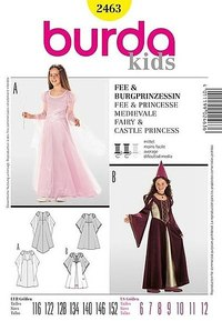 Princess dress, fairy dress. Burda 2463.