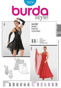Evening dress. Burda 7879.