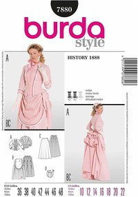 Vintage dress. Burda 7880.