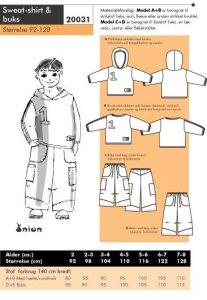 Sweat-shirt and pants. Onion 20031.