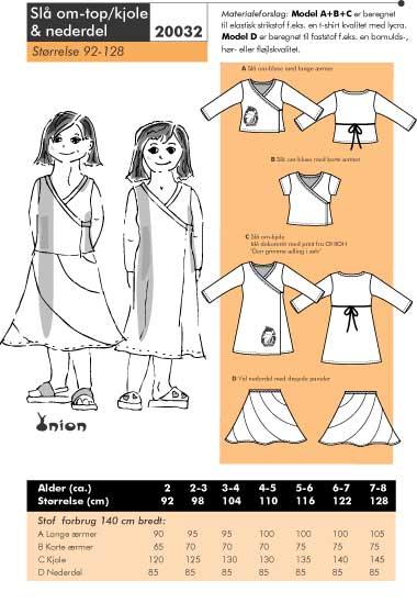 Wrap around top/dress and skirt