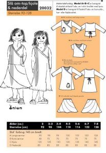 Wrap around top/dress and skirt. Onion 20032.