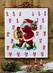 Permin 34-6517. Christmas gift calendar - Santa Claus with presents.