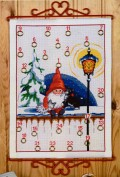 Permin 34-8203. Christmas gift calendar with alf and cat.