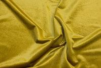 Beautiful yellow-green rokoko-velvet with lightweight shiny surface