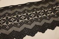 Black café-drape, 35 cm højt