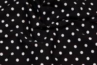 Black cotton with white dots