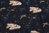 Black, firm cotton with Starwars Millenium Falcon
