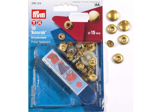 Brass press fasterners 10 pcs