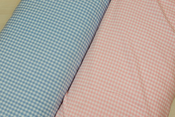 Kitchen checkered cotton in many colors with 4 mm checkers