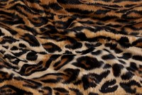 Jaguar fake fur in brown-black