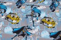 Light grey cotton-jersey with beautiful Batman-motifs