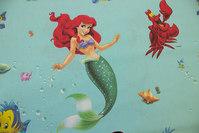 Mermaid Ariel on turqoise cotton
