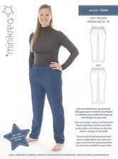 Pants with slanted pockets and elastic waist. Minikrea 70360.
