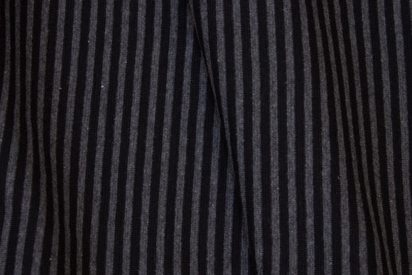 Narrow-striped rib in charcoal and black, 4 mm stripe across