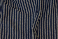 Narrow-striped rib in grey and navy, 4 mm across stripe