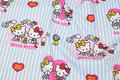Striped cotton with cute hello kitty motifs.