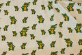 White cotton-jersey with crocodiles.