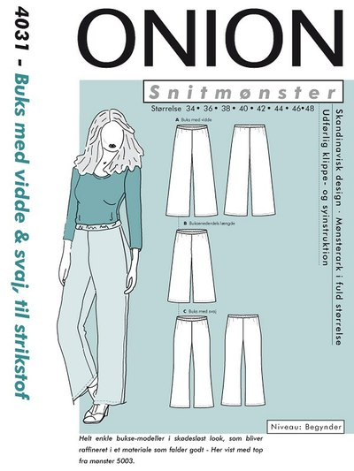 Pants with width