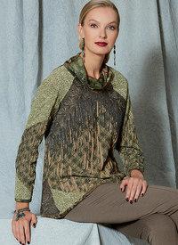 Vogue pattern: Cowl-Neck, Frontk, Front-Fringe Top, Koos van den Akker