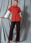 Vogue 1526. Asymmetrical Collar Jacket, Drop-Shoulder Shirt, and Straight-Leg Pants, Paco Peralta.