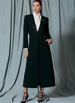 Single-Button Jacket, Tie-Collar Blouse and Calf-Length Skirt, Paco Peralta