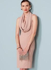 Vogue pattern: Cowl-Neck, Open-Back Dress, Lialia by Julia Alarcon