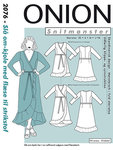 Onion 2076. Wrap dress with waist tie.