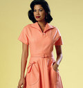 Butterick 6055. Dress and Belt.