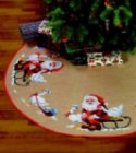 Christmas tree skirts - big Santa Claus helper with geese. 119,86